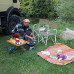 Grillen am Standplatz Entraygues sur Truyere