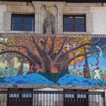 Wandbild, Friedensplatz, Gernika