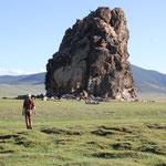 Taikhaar chuluu, heiliger Fels