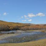 Standplatz bei schoenem Wetter, Terelj Fluss