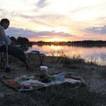 Abendstimmung am See Bartolome