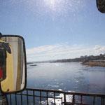 Überfahrt Angara Fluss in Irkutsk