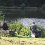 Angler am Standplatz