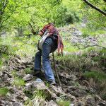Wanderung auf dem scalatoreweg zur pietra
