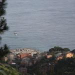 Monte Rosso unser Stellplatz von oben