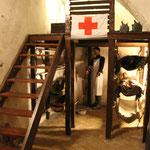 Sanitätsraum im Bunker