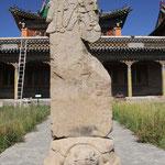 Stele mit sodgischer Schrift