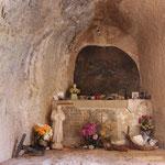Altar in der Einsiedelei Poggio Bustone