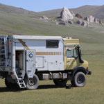 Unimog auf 2800 m, östlich von Altai