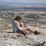 Stephanie Sarah auf dem Gipfel Pena di Fraile
