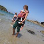 Stephanie beim Bad in San Malo