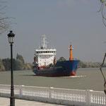 Schiff Atlantis auf dem Rio Gudalquivir