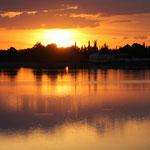 Sonnenuntergang am See San Bartolome
