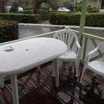 Regen auf der Terrasse, Abschied
