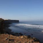 Steilküste, Punto die Sagres, morgens