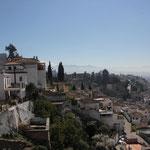 Blick vom Standplatz in Granada, Stadtteil Abaycin