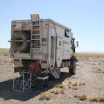 Homepage schreiben in der Wüste