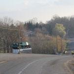 Panzerdenkmal an Ortsausfahrt