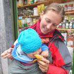 Sarah mit Biobanane