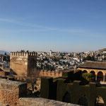 Blick von Alhambra zum Plaza de San Nicolas