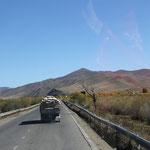 auf dem Highway nach Osten