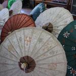 Kunstvolle Schirme, Inle Lake
