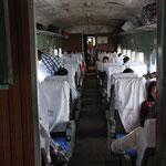 Eisenbahnwagon, Yangon nach Mawlamyine