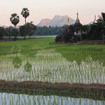 Reisefelder im Abendlicht, Hpha-an