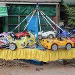 selbstgebautes Kinderkarussel, Mawlamyine