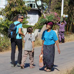 Begegnung auf dem Weg zum Markt, Kalaw