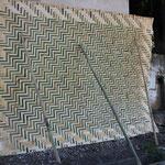 Geflochtene Bambuswand