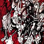 N°25 // Acrylique & encre de chine sur toile // 16/22 cm // non disponible