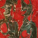 N°03 // Acrylique & craie grasse sur bois // 40/50 // 2001