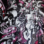 N°42 // Acrylique & encre de chine sur toile // 29/39 cm // non disponible