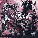 N°43 // Acrylique & encre de chine sur toile // 20/20 cm // non disponible