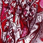 N°16 // Acrylique & crayon sur toile // 13/18 cm // non disponible