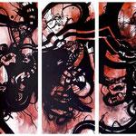 N°40 // Acrylique sur toile // 3 x 40/100 cm // non disponible
