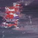 N°08 // Acrylique, encre & collage sur toile // 47/37 // 2002