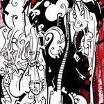 N°19 // Acrylique & crayon sur toile // 20/60 cm // non disponible