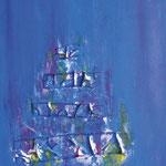 N°-05 // Acrylique & collage sur toile // 21/35 // 2000