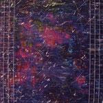 N°-04 // Acrylique & grille sur toile // 27/35 // 2000