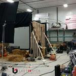 construction d'un décors de vidéoclip pour le groupe Carotté