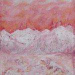 Feuer und Eis- 60x80cm Gouache auf Leinwand 2002