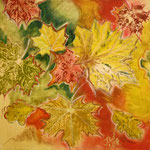 taf art, Herbststimmung II 2007, Gouache auf XL Leinwand 40x40 cm (HxB)