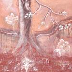 Der Apfelbaum  2007, Gouache auf Leinwand, 70x140 cm (HxB)