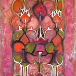 taf art, in time 2008, Gouache auf XL Leinwand 150x70 cm (HxB)