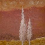 taf art, Toskana Gouache auf Leinwand 1999 100x100cm (HxB), Hotelbesitz