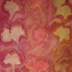 taf art, Bluetenzauber Gouache auf Leinwand 2005 80x60cm (HxB)