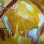 taf art, Herbstfreude II 2007, Gouache auf XL Leinwand 40x40 cm (HxB)