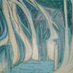 taf art, Am See Gouache auf Hartfaserplatte 2000 60x80cm (HxB)